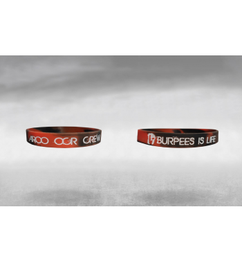 Bracelet Rouge et Noir « Burpees is life »