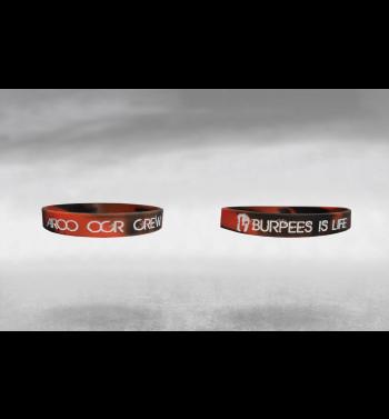 Bracelet Rouge et Noir « Burpees is life »